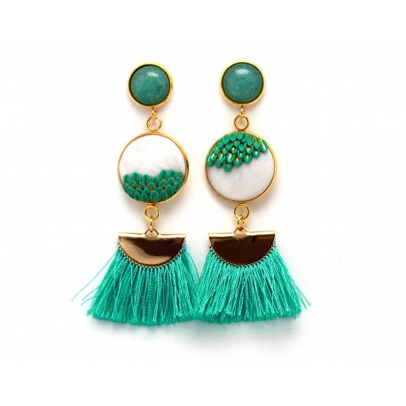 Mismatched turquoise earrings
