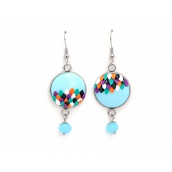 Mismatched blue earrings