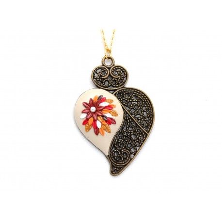 Portuguese golden Viana heart necklace
