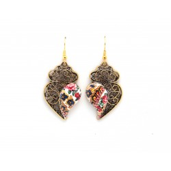Viana filigree gold heart earrings