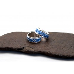 Cuff ring, Portuguese blue tile